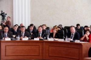 Депутаты фракции Единая на заседании Законодательного Собрания ЕАО VI созыва