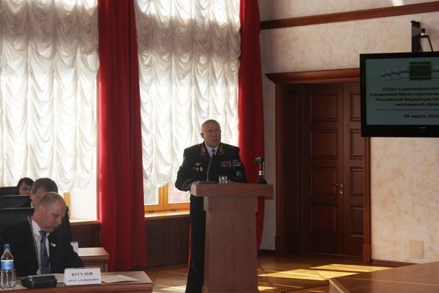 Начальник УМВД РФ по ЕАО отчитался перед депутатами