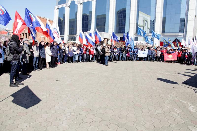 В Биробиджане отметили третью годовщину возвращения Крыма в Россию