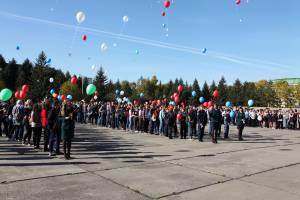 Л. Павлова приветствовала участников акции «Голубь мира»