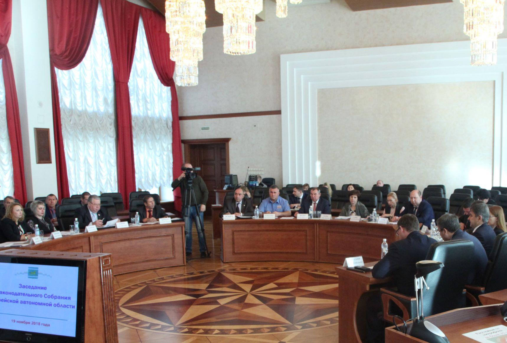Законодатели РФ от ЕАО поздравляют депутатов с юбилеем Заксобрания