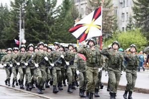 В Биробиджане прошел парад Победы